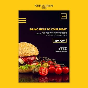 Cartaz de modelo de hambúrguer