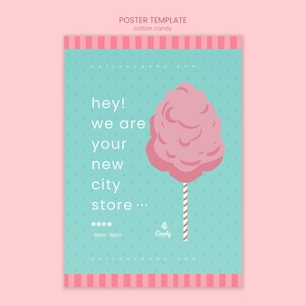 Cartaz de modelo de loja de doces