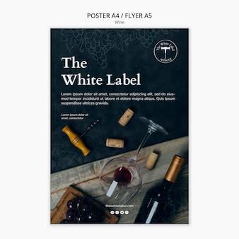 Cartaz de modelo de loja de vinhos