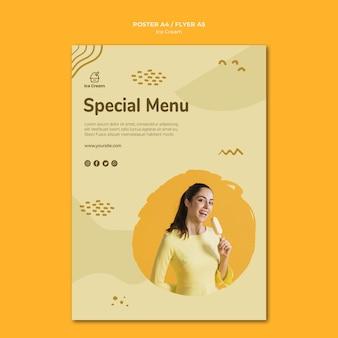 Cartaz de modelo de sorvete