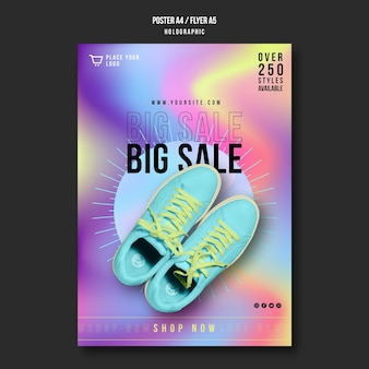 Cartaz de modelo de venda de tênis