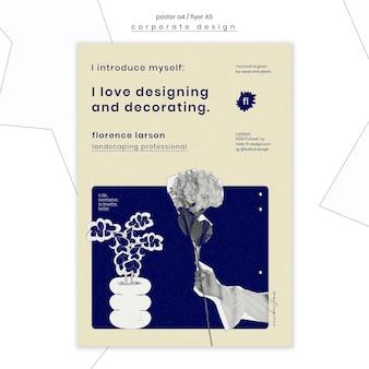 Cartaz de modelo profissional de paisagismo