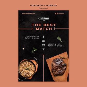 Cartaz de modelo promocional de restaurante