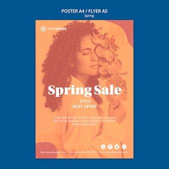 Cartaz de ofertas de venda de primavera