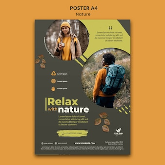 Cartaz de relaxamento na natureza