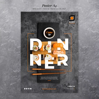 Cartaz de restaurante de comida temperamental