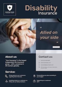Cartaz de seguro de invalidez