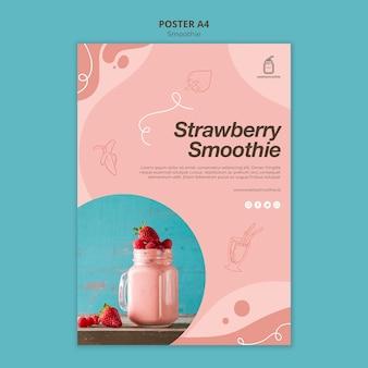 Cartaz de smoothie fresco com foto