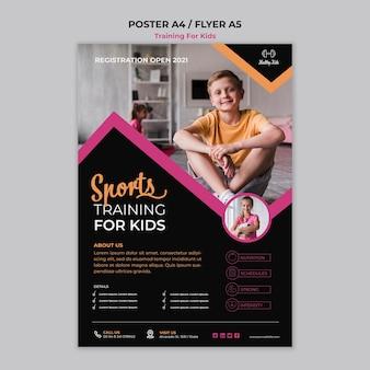 Cartaz de treinamento para crianças