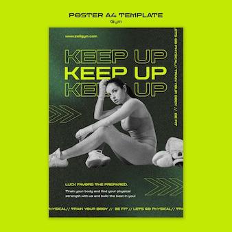 Cartaz de treino de ginástica a4