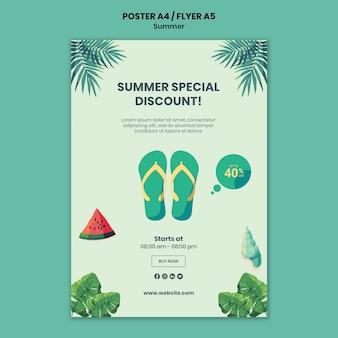 Cartaz de verão ou modelo de folheto
