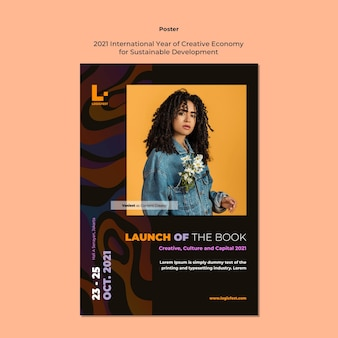 Cartaz do ano internacional da economia criativa para o desenvolvimento sustentável