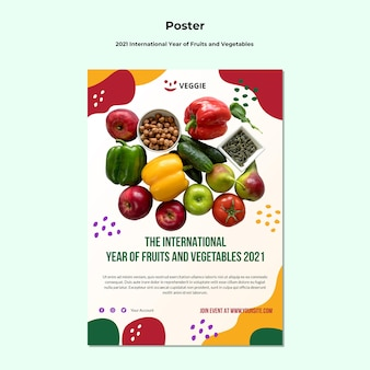 Cartaz do ano internacional de frutas e vegetais