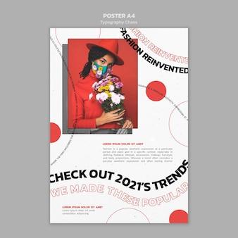 Cartaz do caos de tipografia