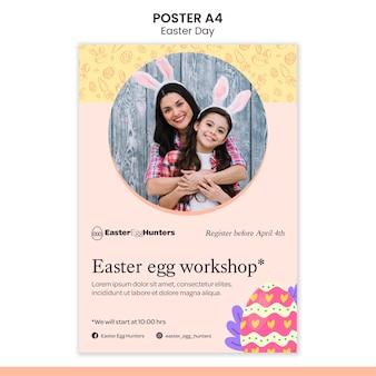 Cartaz do dia da páscoa com foto