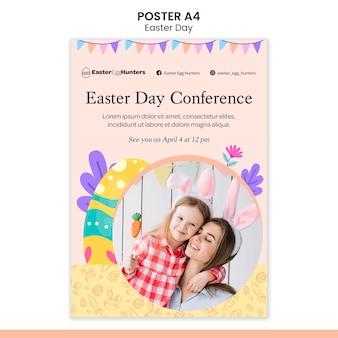 Cartaz do dia da páscoa com foto Psd grátis