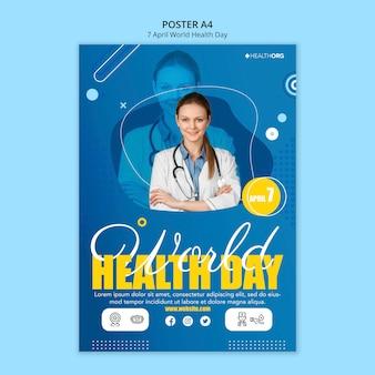 Cartaz do dia mundial da saúde com foto