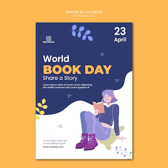 Cartaz do evento do dia mundial do livro