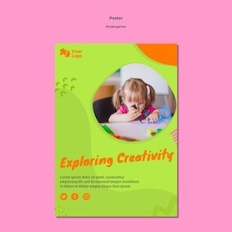 Cartaz do jardim de infância com foto