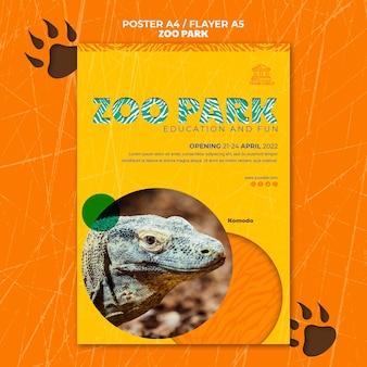 Cartaz do parque zoológico com foto