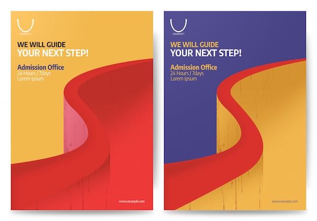 Cartaz e folheto de educação