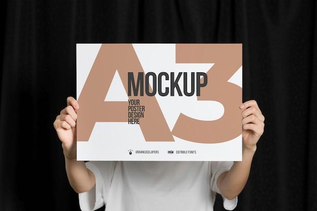 Cartaz em maquete de tamanho a3