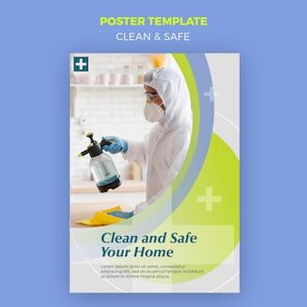 Cartaz limpo e seguro