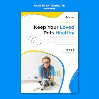 Cartaz modelo de clínica veterinária