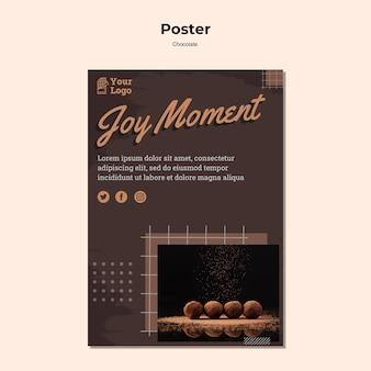 Cartaz modelo de loja de chocolates