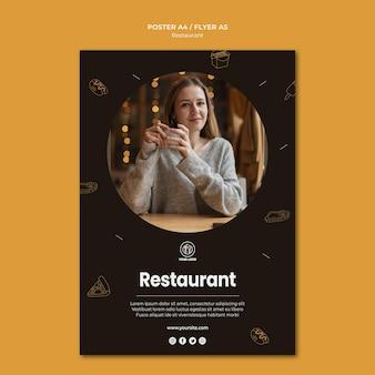 Cartaz modelo de restaurante