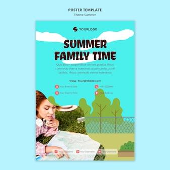 Cartaz modelo de viagens de verão