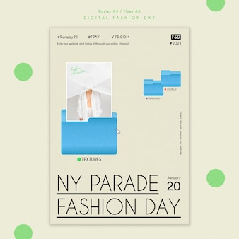 Cartaz modelo do dia da moda