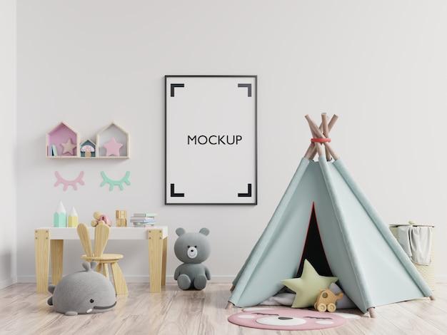 Cartaz no interior do quarto de criança