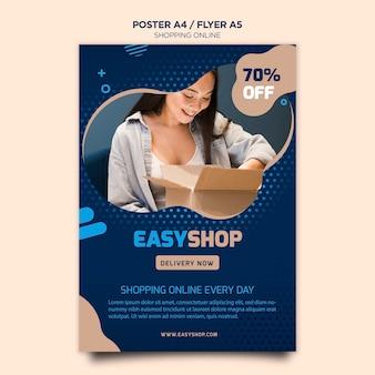 Cartaz on-line de compras