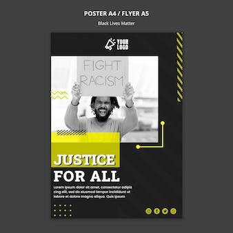Cartaz para combater o racismo