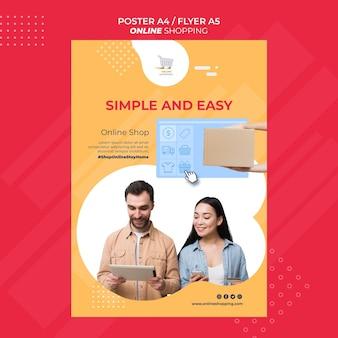 Cartaz para compras online