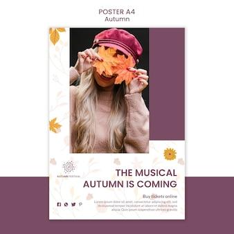 Cartaz para concerto de outono