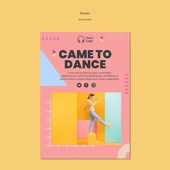 Cartaz para curtir musica