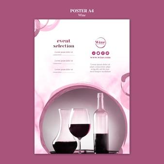 Cartaz para degustação de vinhos