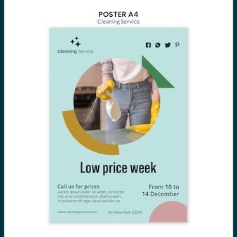Cartaz para empresa de limpeza doméstica