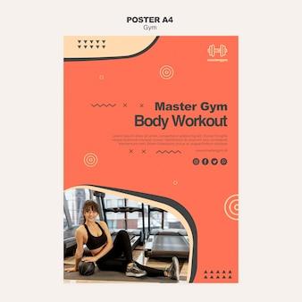 Cartaz para exercícios de ginástica