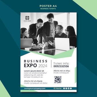 Cartaz para exposição de negócios