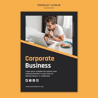 Cartaz para negócios corporativos