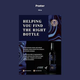 Cartaz para negócios de vinho