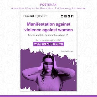 Cartaz para o dia internacional pela eliminação da violência contra as mulheres