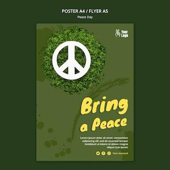 Cartaz para o dia mundial da paz