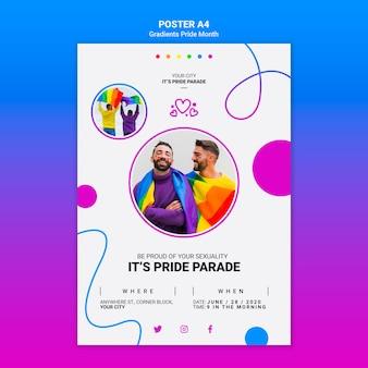 Cartaz para o orgulho lgbt