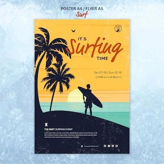 Cartaz para o tempo de surf