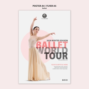 Cartaz para performance de balé
