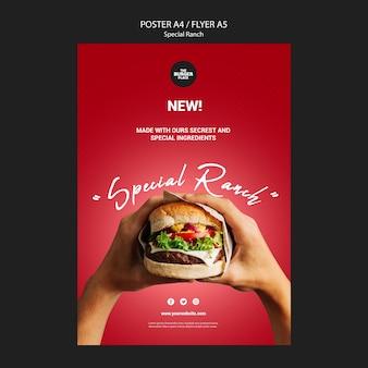 Cartaz para restaurante de hambúrguer